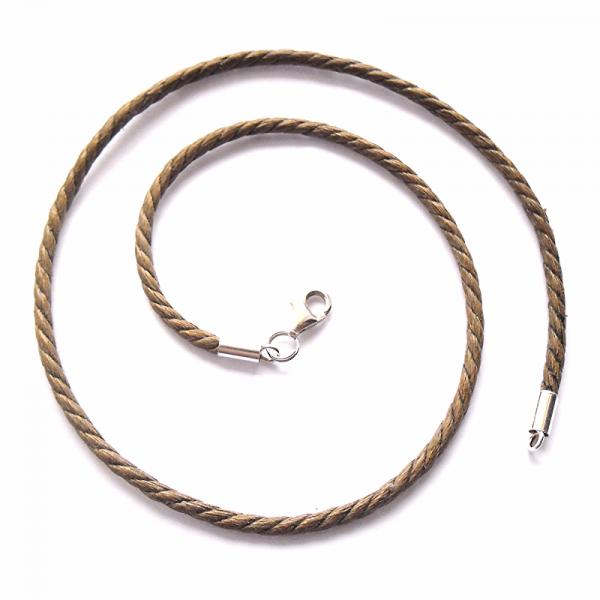 Bawełniany sznurek woskowany w kolorze jasno brązowym