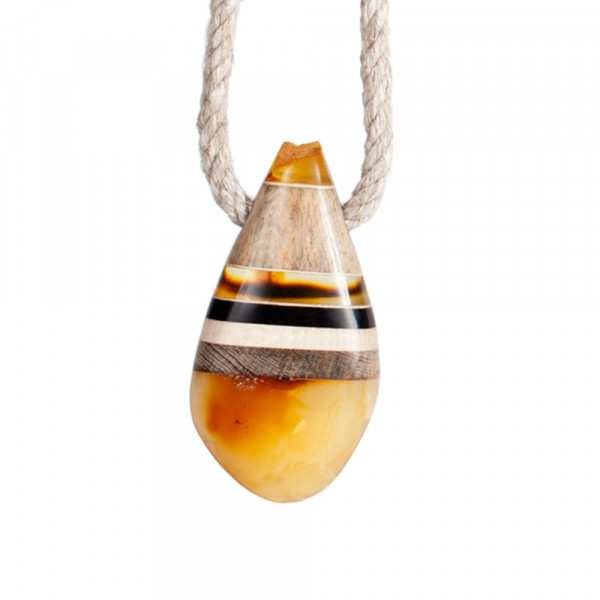 Necklace Amberwood Drop