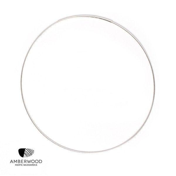 Amberwood CHOKER Halsreif aus  Silber 925, Stärke 1.2mm / 2.2mm, Länge 45cm / 50cm