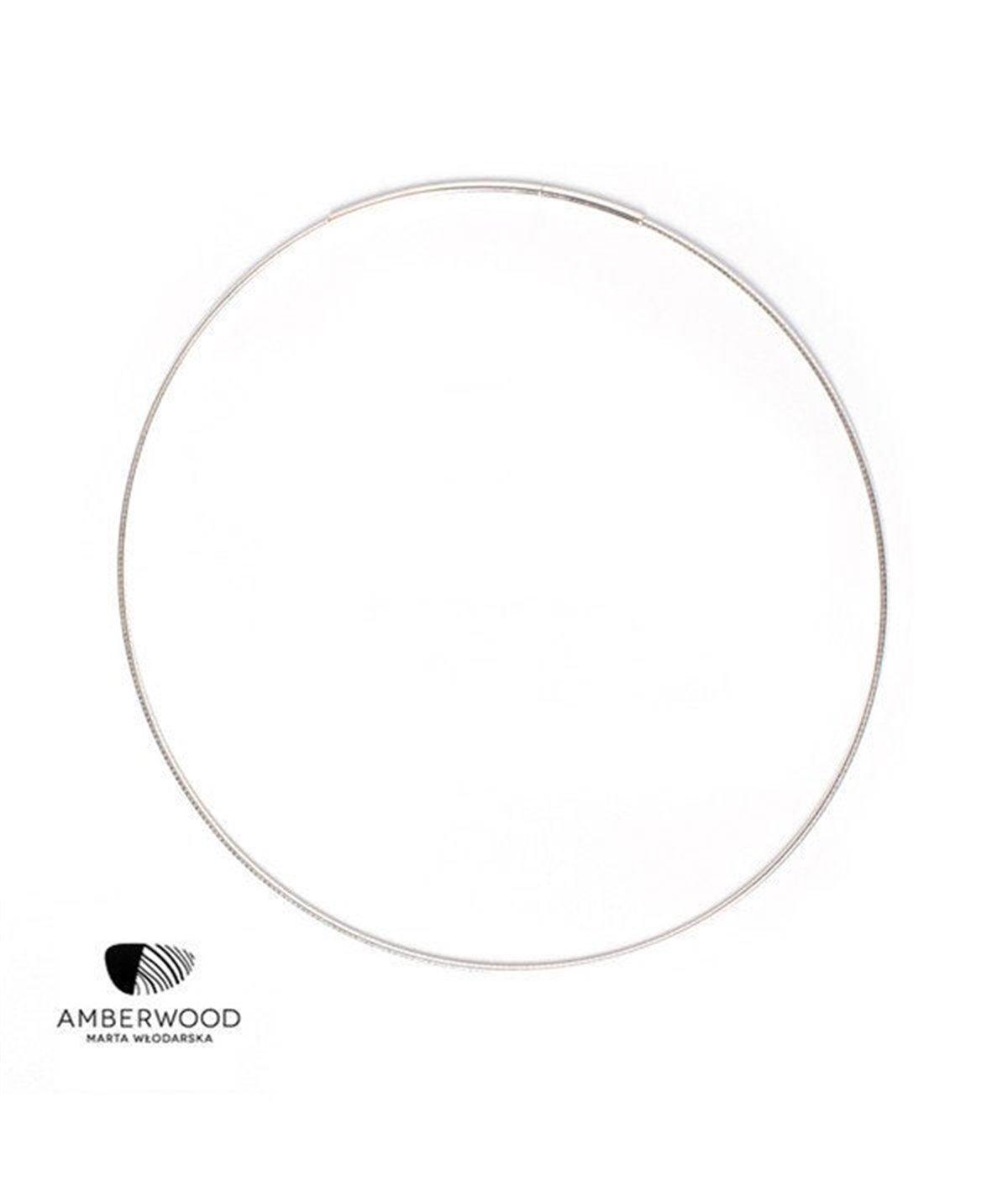Amberwood Choker Collar Sterling Silver, 1.2 or 2.2mm