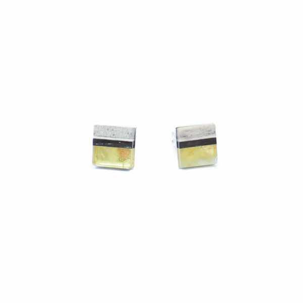 Mini Ohrringe Simple Gelb